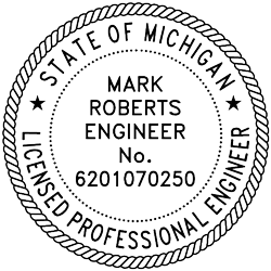 State of Michigan Licensed Professional Engineer