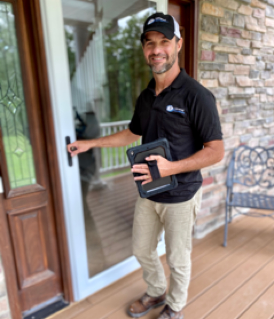 Owner of Universal Home Inspections, Mike Makely, on a home inspection