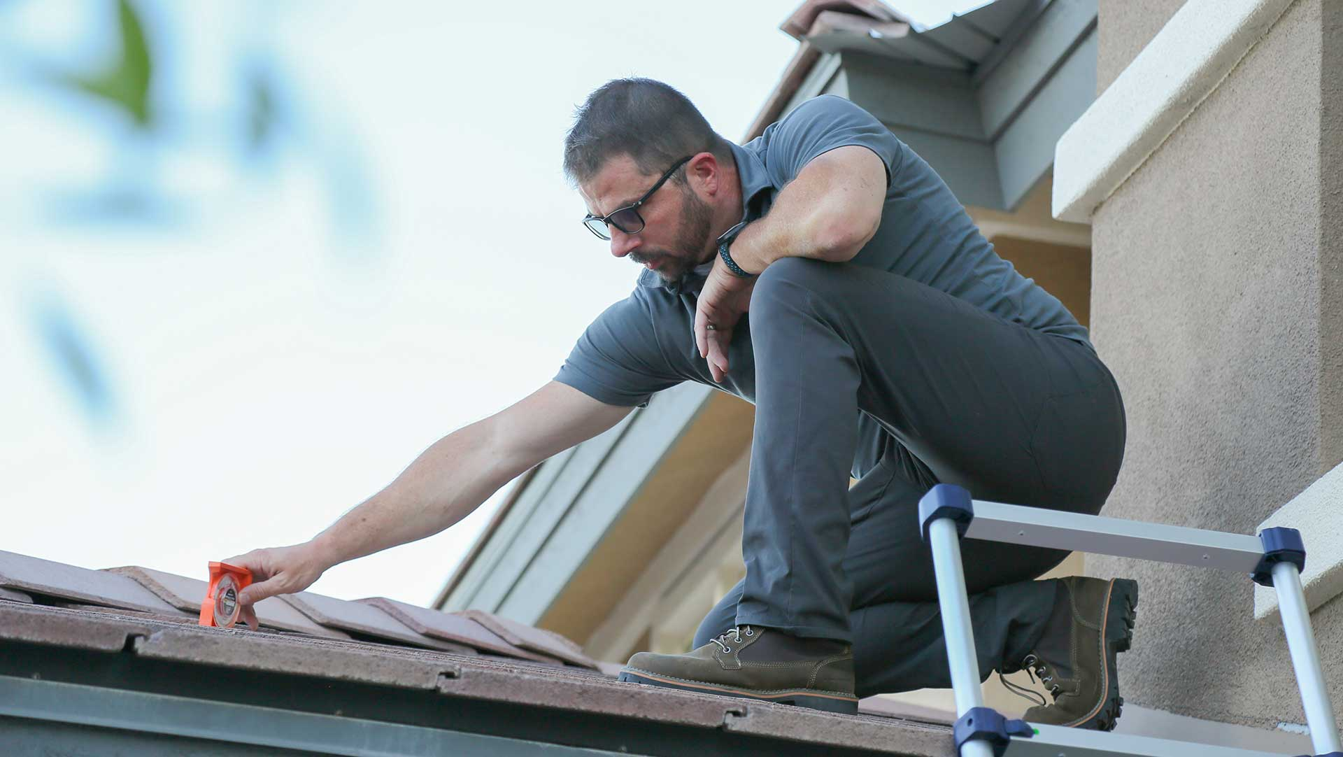 Darrel Fall Owner, Vegas Valley Inspections on roof