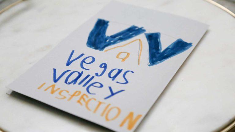 Vegas Valley Inspections cards handwritten