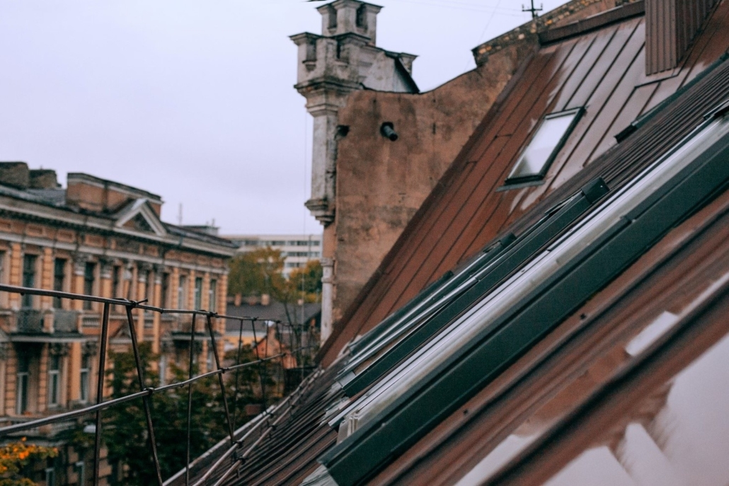 sloping roof